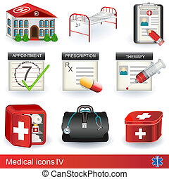 Medical icons 4 - Collection of different medical icons -...