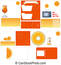 Orange stationary template
