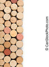 corks wine - set of wine corks isolated on white