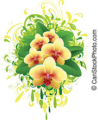 Banner with orchid
