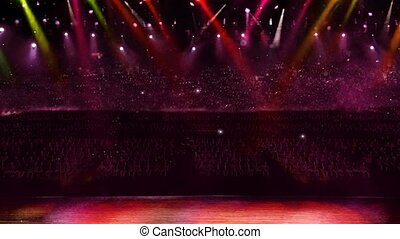 concert camera red flash light - color spotlight in the...
