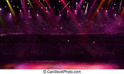 concert spotlight color changing