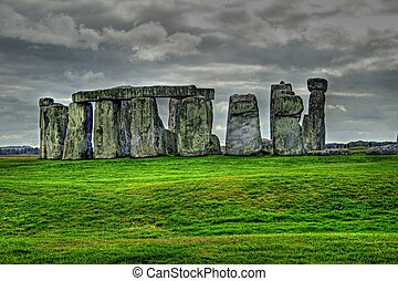 Stonehenge HDR - View of Stonhenge in high dynamic range