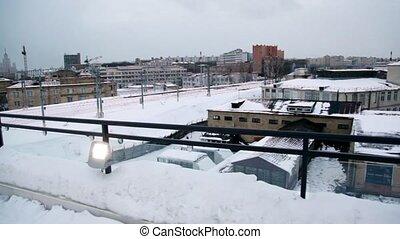 Industrial zone near Baumanskaya station, panoramic view...