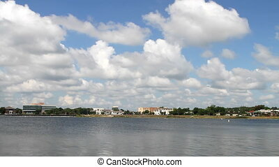 Pensacola Shoreline - View of Pensacola, Florida, USA...
