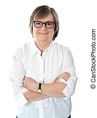 Caucasian senior business executive - Senior female business...