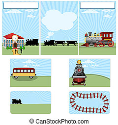 Steam train stationary - brochure design, flyer design and...
