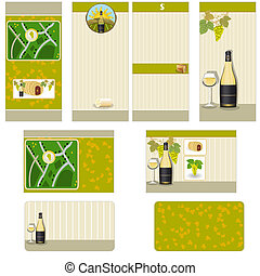 White wine stationary - brochure design, flyer design and...