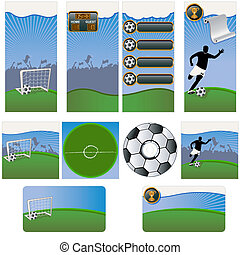 Soccer stationary template