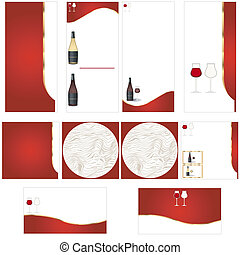 Wine stationary template - brochure design, CD cover design...