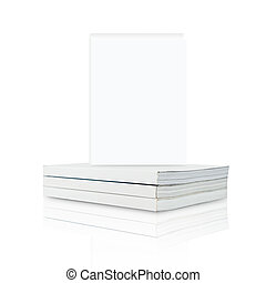 Blank Book on white background, isolated