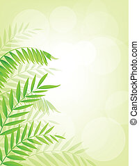 Palm tree background - Vector Illustration Of Palm tree...