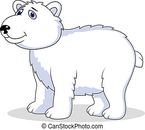 polar bear cartoon - Vector Illustration Of polar bear...