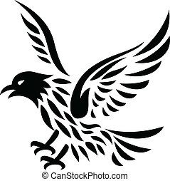 Eagle Tattoo - Vector Illustration Of Eagle Tattoo