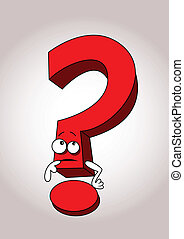 Question mark cartoon