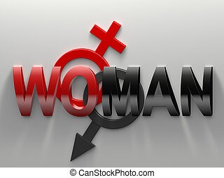 Woman and man - Word syllable by syllable woman divided into...