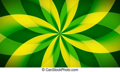 Spirographic Yellow-Green Loop - Abstract loop features a...