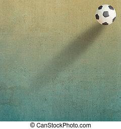 Plasticine, fútbol, viejo, papel, Plano de fondo