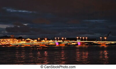 Blagoveshchensky Bridge, night