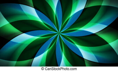 Spirographic Blue-Green Loop - Abstract loop features a...