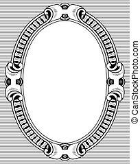 Elegance frame on grey background