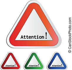 Vector attention symbol - secure warning