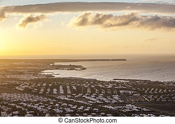 sunrise over Playa Blanca