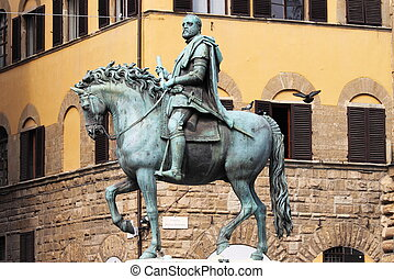 Equestrian statue of Cosimo I in Florence - Equestrian...