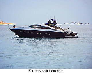 Luxury yacht, boat on Red Sea