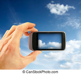 taking sky photo with smart phone
