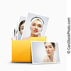 beauty portrait - a folder with different pictures