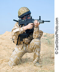 British Royal Commando in action