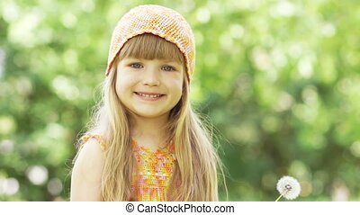 Happy girl. Thumbs up. Ok - Childhood