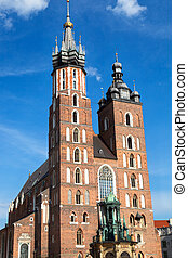 The basilica of the Virgin Mary in Cracow, Poland
