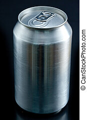 Close up of an aluminium closed can