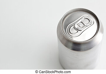 Overhead view of a closed aluminium can