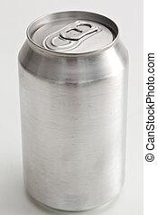 Close up of an aluminium can
