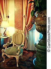 detail of classic interior