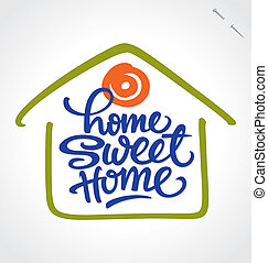 'home sweet home' hand lettering - 'home sweet home' hand...