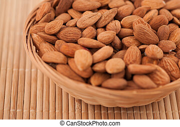 Bowl full of almonds - Bowl full of roasted almonds