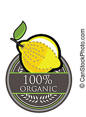 Lemon Organic label