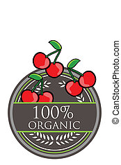 Cherry Organic label