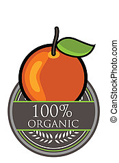 Orange Organic label