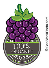Grape Organic label