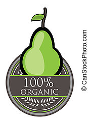 Pear Organic label