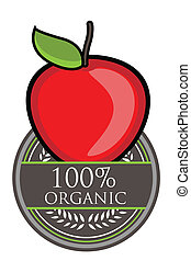 Red Apple Organic label