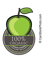 Green Apple Organic label