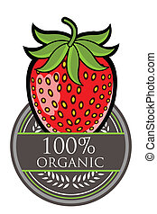 Strawberry Organic label
