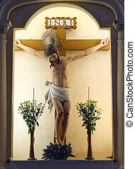 Jesus statue in St. Dominic's Chruch, Macao - Jesus statue...