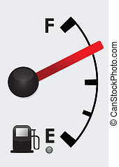 Detailed Gas tank almost Full
